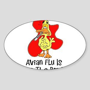 Avian Flu Oval Sticker