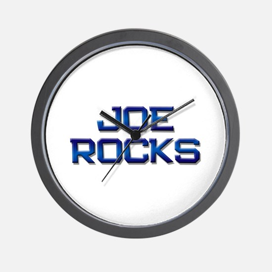 joe rocks Wall Clock