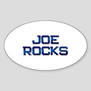 joe rocks Oval Sticker