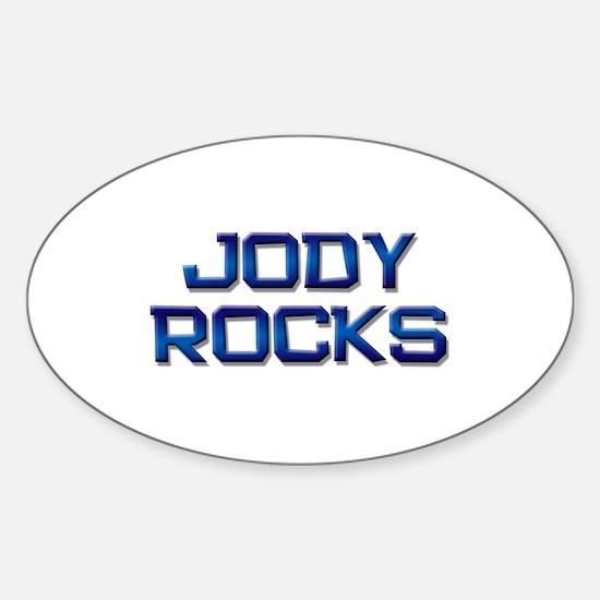 jody rocks Oval Decal