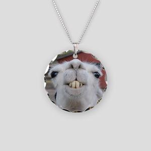 Funny Alpaca Llama Necklace Circle Charm