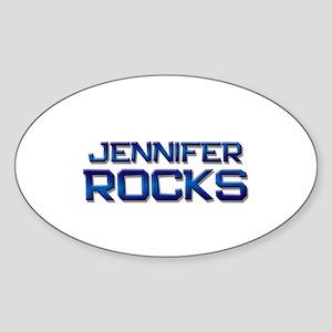 jennifer rocks Oval Sticker