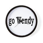 go Wendy Wall Clock