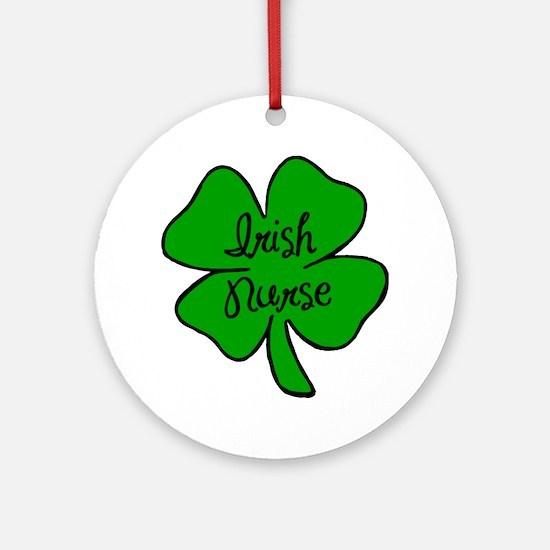 Irish Nurse Ornament (Round)