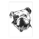 English Bulldog Smiling Postcards (Package of 8)