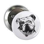 "English Bulldog Smiling 2.25"" Button"