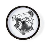 English Bulldog Smiling Wall Clock