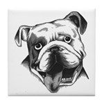 English Bulldog Smiling Tile Coaster