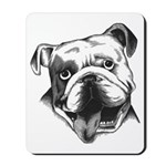 English Bulldog Smiling Mousepad