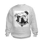 English Bulldog Smiling Kids Sweatshirt