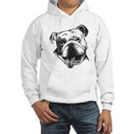 English Bulldog Smiling Hooded Sweatshirt