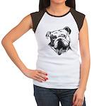 English Bulldog Smiling Women's Cap Sleeve T-Shirt
