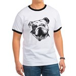 English Bulldog Smiling Ringer T