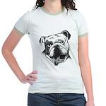 English Bulldog Smiling Jr. Ringer T-Shirt