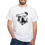 English Bulldog Smiling White T-Shirt