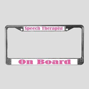 Cute Speech Therapist License Plate Frame