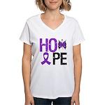 Alzheimer's Disease Hope Women's V-Neck T-Shirt