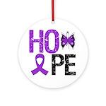 Alzheimer's Disease Hope Ornament (Round)