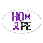 Alzheimer's Disease Hope Oval Sticker (10 pk)