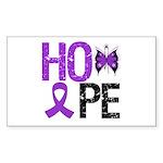 Alzheimer's Disease Hope Rectangle Sticker