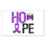 Alzheimer's Disease Hope Rectangle Sticker 10 pk)