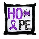 Alzheimer's Disease Hope Throw Pillow