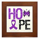 Alzheimer's Disease Hope Framed Tile