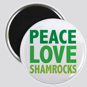 Peace Love Shamrocks Magnet