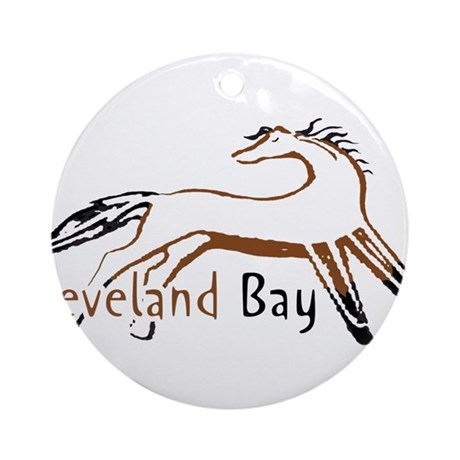 Cleveland Bay Horse Ornament (Round)