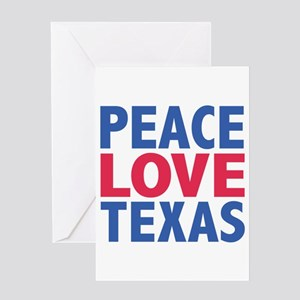 Texas independence day greeting cards cafepress peace love texas greeting card m4hsunfo