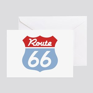 Route 66 -Diner Greeting Cards (Pk of 10)