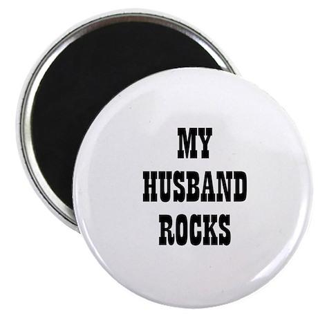 "MY HUSBAND ROCKS 2.25"" Magnet (10 pack)"
