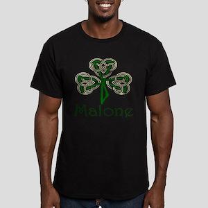 Malone Shamrock Men's Fitted T-Shirt (dark)