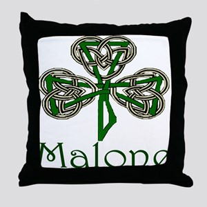 Malone Shamrock Throw Pillow