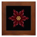 Red Daylily I Framed Tile
