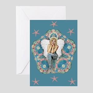 Sand Dollar Angel Greeting Cards