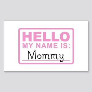 Mommy Nametag - Rectangle Sticker