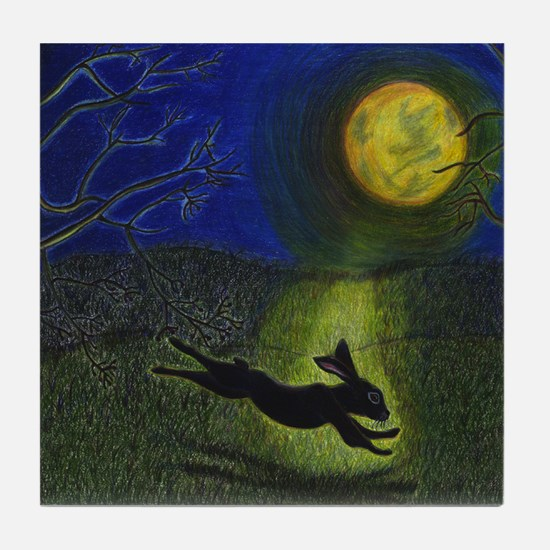 """In Moonlight"" Tile Coaster"