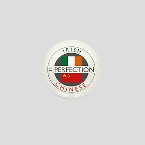 Irish Chinese heritage flag Mini Button