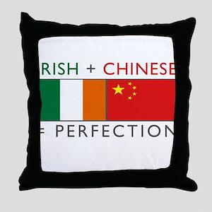 Irish Chinese heritage flag Throw Pillow