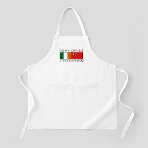 Irish Chinese heritage flag BBQ Apron