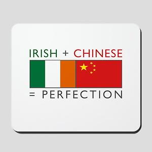 Irish Chinese heritage flag Mousepad