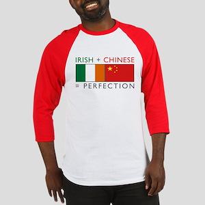 Irish Chinese heritage flag Baseball Jersey