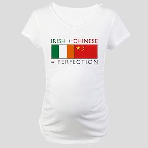 Irish Chinese heritage flag Maternity T-Shirt