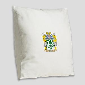 Mooney Coat of Arms - Family C Burlap Throw Pillow