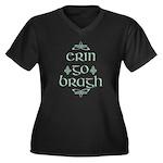Erin go bragh Women's Plus Size V-Neck Dark T-Shir