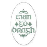 Erin go bragh Oval Sticker (50 pk)
