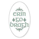 Erin go bragh Oval Sticker (10 pk)