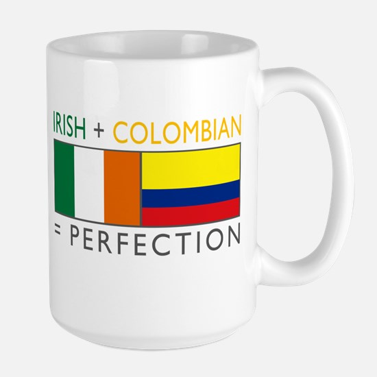 Irish Colombian heritage flag Large Mug