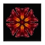 Red Daylily I Tile Coaster